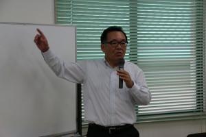 ゲストスピーチをいただいた岡山県産業労働部 亀森部長